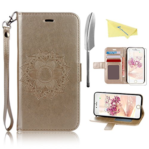 Rosa Schleife Embossed Magnetic Protective