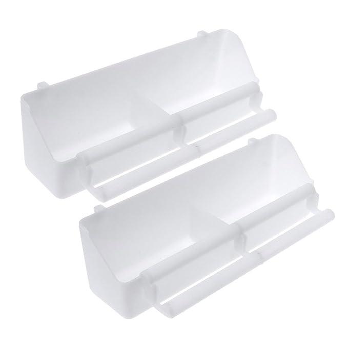 Pl/ástico Blanco Comedero para p/ájaros Lifet 21.5 x 6 x 5cm Color Blanco 2 Unidades, pl/ástico