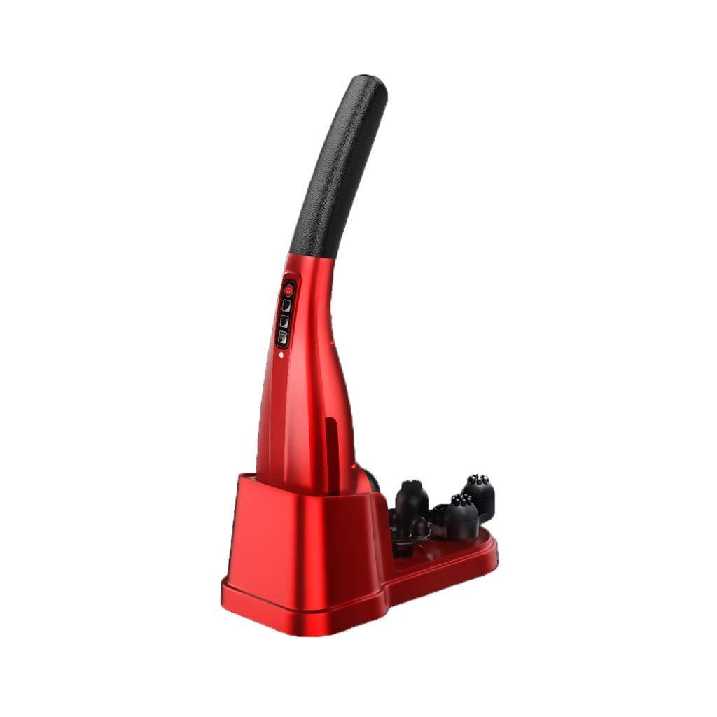 充電ドルフィンマッサージャーバーノッキングハンマーショルダーネックウエスト多機能ボディ混練脚バック HUXIUPING (Color : Red) B07TTGWWDK Red
