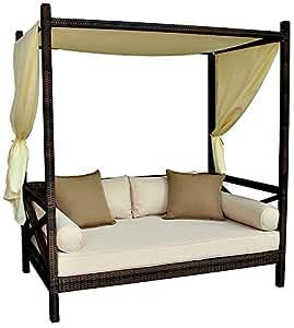 Outdoor bali style sun day bed cushion for Sofa exterior amazon