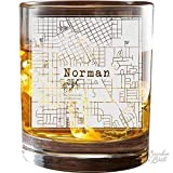 College Town Etched City Map Cocktail Glasses (Set of 2)