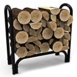 Elite Flame 28 Inch Indoor Outdoor Firewood Shelter Log Rack