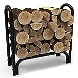gel fuel can holder - Elite Flame 28 Inch Indoor Outdoor Firewood Shelter Log Rack