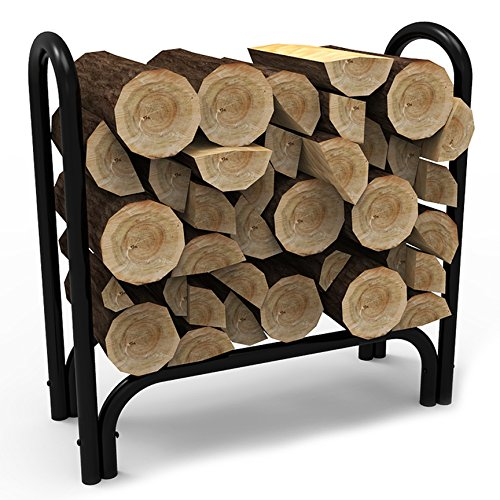 Elite Flame 28 Inch Indoor Outdoor Firewood Shelter Log Rack by Elite Flame