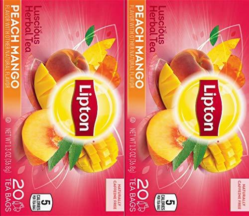 - Lipton Tea Herbal Peach Mango (Pack of 2)