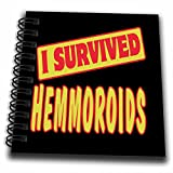3dRose db_118008_3 I Survived Hemmoroids Survial Pride And Humor Design-Mini Notepad, 4 by 4''