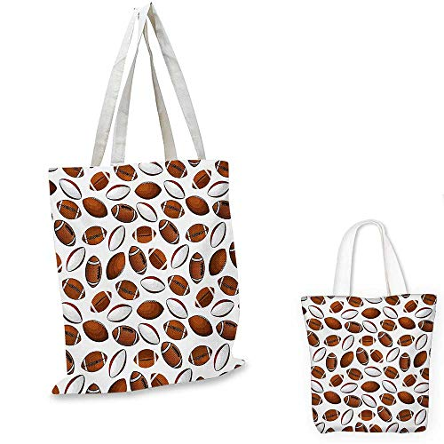 American Football royal shopping bag Classic Design Rugby Balls in Cartoon Style Sports Competition funny reusable shopping bag Caramel Ruby White. 14