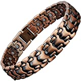 Mens Magnetic Copper Link Bracelets for Pain Relief-ALL SIZES-Golf Gifts for Men, Magnetic Health Bracelet for Arthritis, Carpal Tunnel Tennis Elbow Joint, Wrist-CS1 (23.5 cm / 9.25 in)