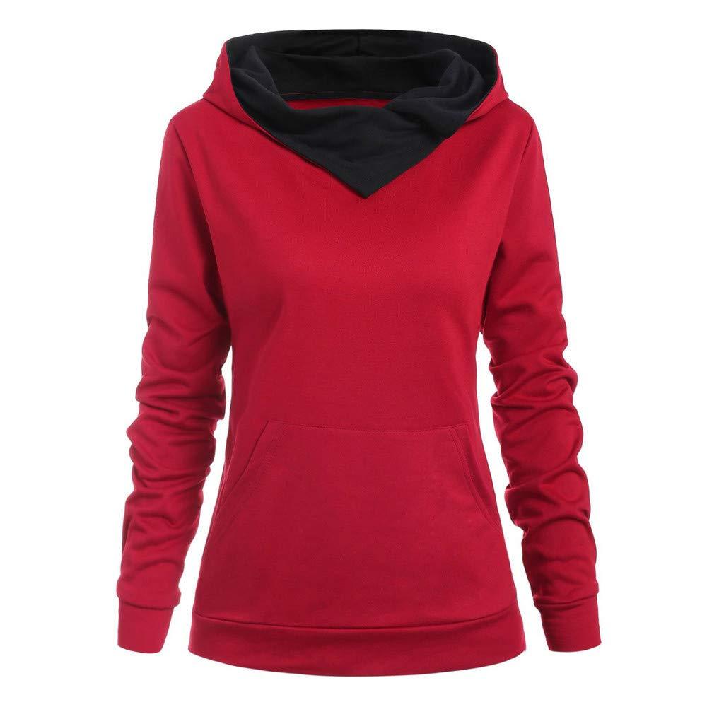 Keepmove Casual Sweatshirt Womens Fashion Butterflies Skull Print Hoodie Kangaroo Pocket Hooded Sweatshirt