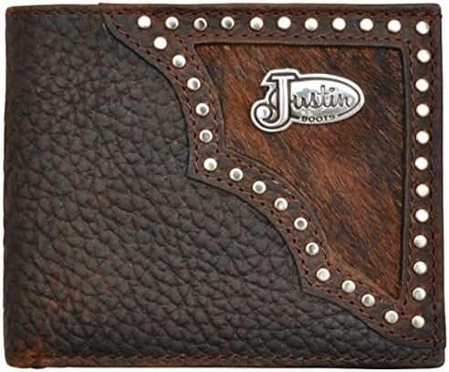 Justin Dark Brown Western Bifold Wallet