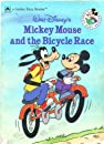 Walt Disney's Mickey Mouse and the Bicycle Race by Cindy West. Golden Book Easy Reader. 1988.