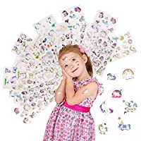 HAPTIME 490+ Unicorn Stickers 90+ Different Design Decals for Girls and Boys as Unicorn Themed Birthday Party Favors, Goodie Bags & Carnivals