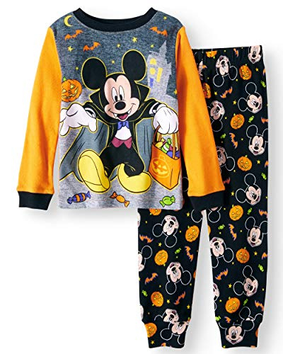 Disney Mickey Mouse Little Boys Toddler Halloween Pajama Set -
