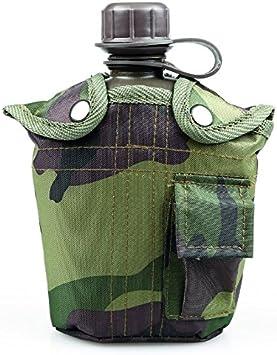 OZtrail Cantimplora Militar 946ml 190gr 21x14x8cm 1Q Plastic Tactix Army Canteen CO-CA1PC-D - Libre de Bisfenol A. con Funda para transportarla. Camuflaje.