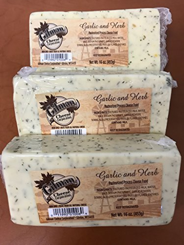 Gilman Garlic and Herb Cheese Block 16oz (3 lbs total) (Garlic Cheese Cheddar)