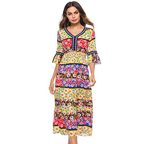 JKJHAH Jupe Longue D't  Lacets pour Femme Picture color