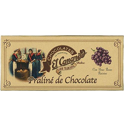 Praliné de Chocolate con Pasas (200 g) - El Canario: Amazon.es: Alimentación y bebidas