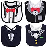 FANCYBIBS Baby Boy Girl Drool Drooling Bibs Tuxedo Bowtie Bow Neck Tie Burp Cloths Unisex (Bow Tie Bibs)