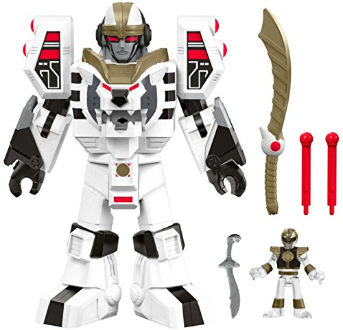 (Fisher-Price Imaginext Power Rangers White Ranger & Warrior Mode Tigerzord)
