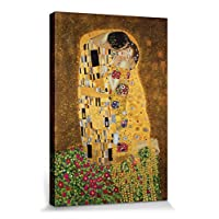 1art1 Gustav Klimt - Il Bacio II Stampa Su Tela (50 x 40cm)