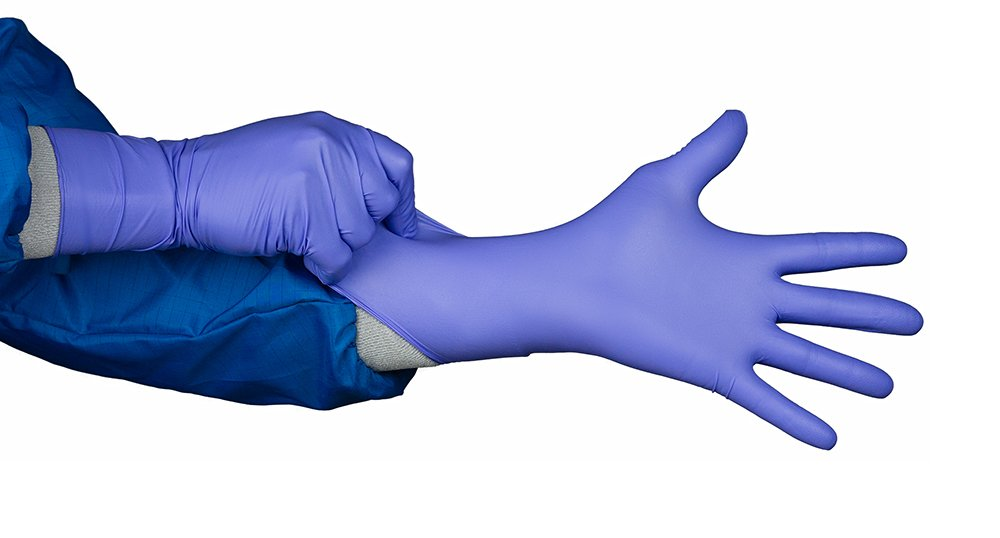 HandPRO 8755 Clean Class Gloves, 10.43'' Height, 12.20'' Wide, 14.17'' Length, Nitrile, 2XL, Blue (Pack of 1000)