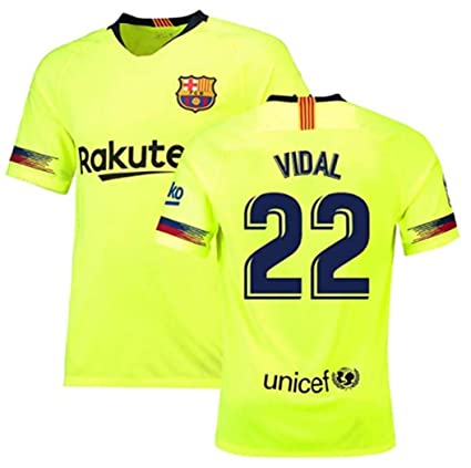 wholesale dealer 681bc 7378a Amazon.com : LISIMKEM FC Barcelona Vidal#22 Jersey Mens Away ...