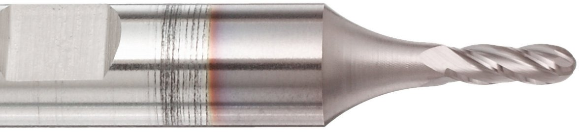 2.6875 Overall Length 0.5000 Cutting Diameter Weldon Shank 4 Flutes Melin Tool CC Cobalt Steel Square Nose End Mill 0.3750 Shank Diameter Uncoated Finish Bright 30 Deg Helix