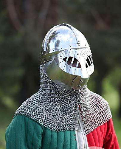 Marine Gift Shop 16 Gauge Viking Gjermundbu Helmet Medieval Armor Reenactment Helmet Reproduction