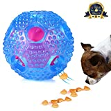 SANTIAOTUI Interactive Dog Toy - IQ Treat Ball Food Dispensing Toys for Small Medium Dogs Durable Food Dispensing Chew Dog Ball - Nontoxic Rubber and Bouncy Dog Ball (Dog Chew Toys)