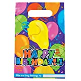HAPPY BIRTHDAY LOOT BAG 6.5in. x 10in. (pack of 8), Health Care Stuffs