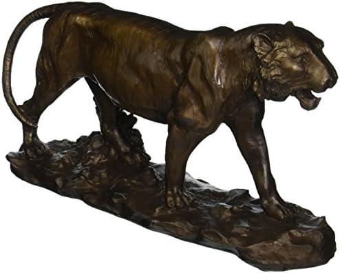 Design Toscano EU6563 Prowling Tiger Statue,bronze