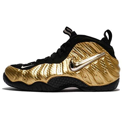 Nike Men's Air Foamposite Pro, MATALLIC Gold/Black-Black OR MATALLIQUE/Noir/Bianc/Noir, 10.5 M US