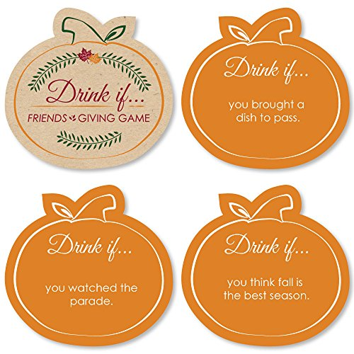 Drink If Game - Friends Thanksgiving Feast - Friendsgiving Party Game - 24 Count