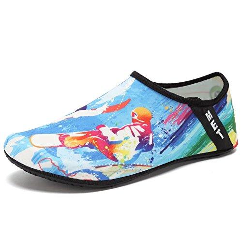 CIOR Leichte Aqua Socken Quick-Dry Wasser Schuhe Mutifunctional Barfuß Für Strand Pool Surf Yoga Übung Surfen