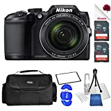 Nikon COOLPIX B500 Digital Camera Black (26506) USA - Full Accessory Double Memory Bundle Package Deal
