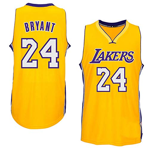 Kobe Bryant Basketball - Datouji Kobe 24# Basketball Bryant Jersey Los Angeles Youth/Kids (Yellow, L)