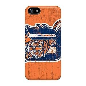 Iphone 5/5s NIz5187nyWb Allow Personal Design Vivid Detroit Tigers Pattern Bumper Hard Phone Covers -JohnPrimeauMaurice