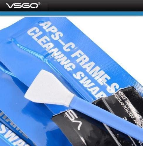 16mm 20 Individually Vacuum-Packed swabs in a Padded Bag VSGO APS-C Sensor Cleaning Swabs