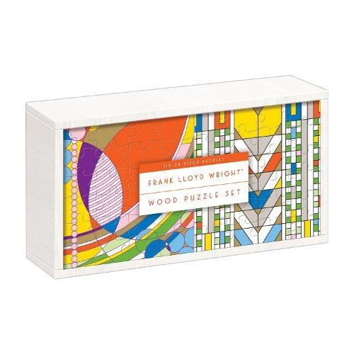Galison Frank Lloyd Wright Party Wooden Jigsaw Puzzle (150 Piece), Multicolor by Galison