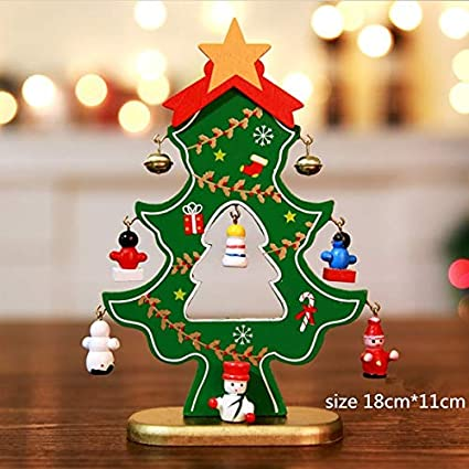 Amazon Com Culturemart Wood Christmas Tree Desktop Diy Mini