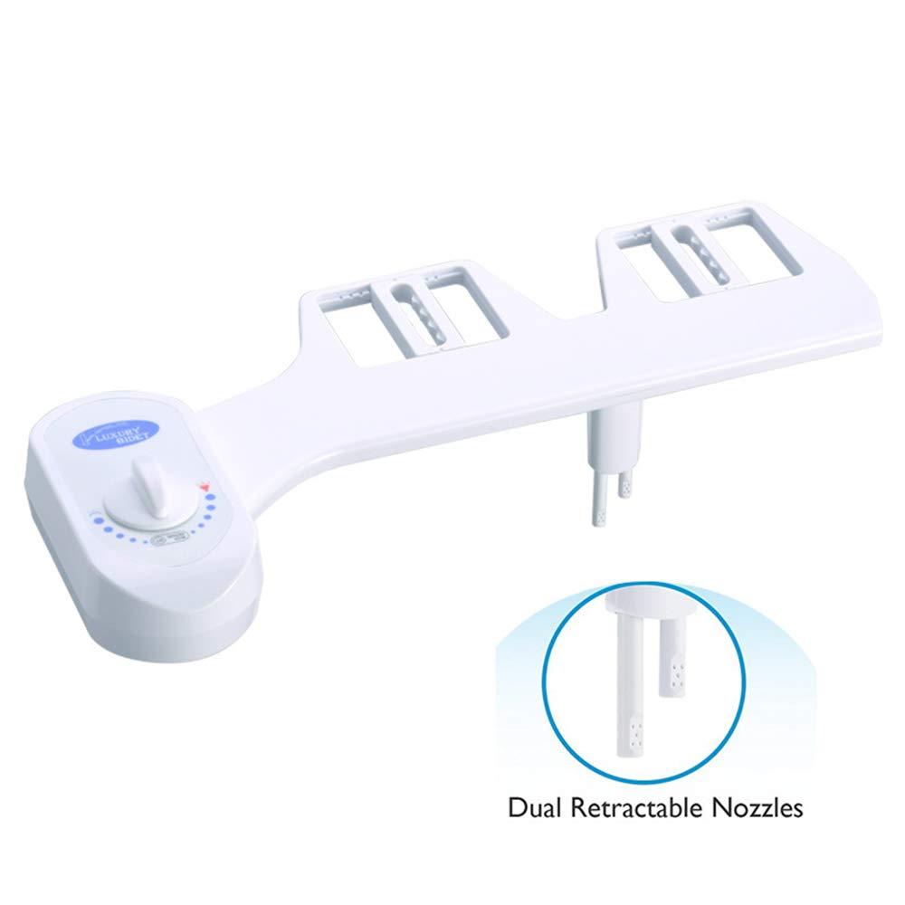 con doppio ugello autopulente attacco per bidet acqua calda e fredda bianco facile da installare kit con controllo pressione e temperatura bidet non elettrico per WC Asdomo bidet meccanico