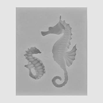 Zantec Mold, Caballo de mar Cute herramienta hornear molde de fundición de silicona Decoración de