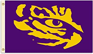 BSI NCAA College LSU Tigers 3 X 5 Foot Flag with Grommets