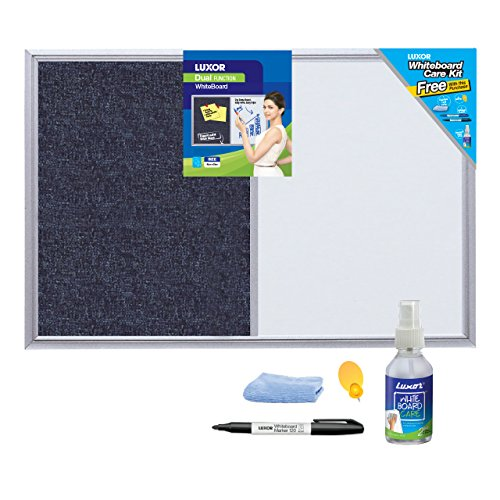 Luxor 1540 White Board – 45 cm X 60 cm With Accessory Pack