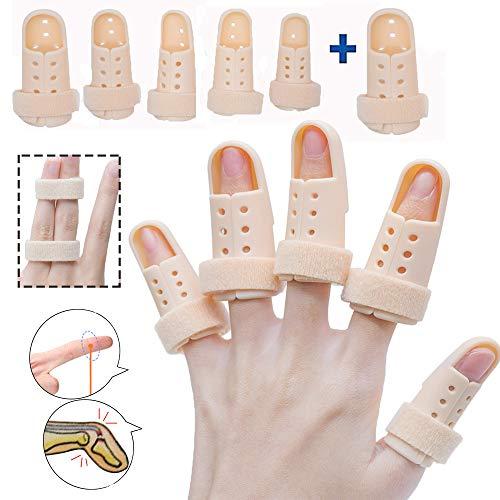 Finger Splint Brace, Mallet Finger Splints Pinky, Plastic Finger Protector Support for Arthritis Basketball,5 Pcs Finger Immobilizer for Finger Joint Pain
