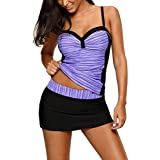 28be1dd7f14fe JomeDesign Womens Two Piece Bathing Suits Push up Printed Tankini Swimsuits  for Women S-XXXL