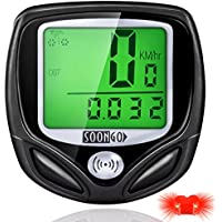 SOON GO Bike Computer Speedometer Wireless Waterproof...