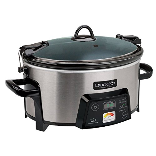 Crock-Pot 6-Quart Cook & Carry Digital Slow Cooker with Heat-Saver Stoneware, Brushed Stainless Steel (Certified Refurbished) Review