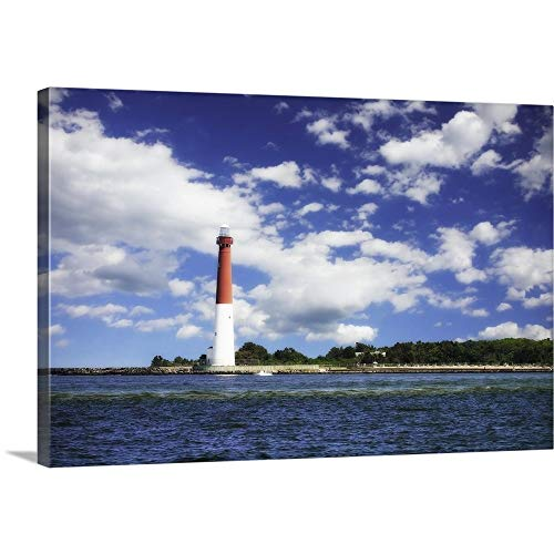 (GREATBIGCANVAS Gallery-Wrapped Canvas Entitled Barnegat Bay Light I by Alan Hausenflock 48