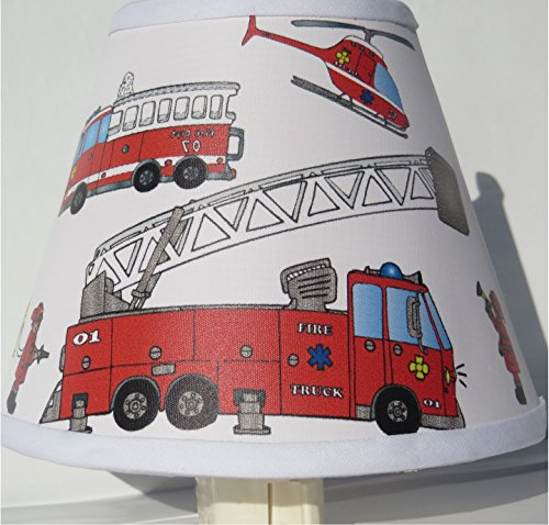 Fire Truck Night Light / Fire Truck Childrens Room Decor